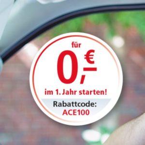 Gratis: 1 Jahr ACE-Mitgliedschaft (KFZ-Pannenhilfe 🚗) bei 2 Jahren Laufzeit