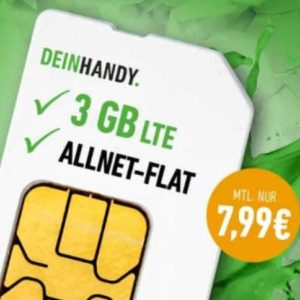 [TOP] o2 Allnet-Flat + 3GB LTE für 7,99€ (mtl. kündbar) + keine AG!