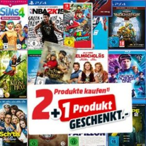 [TOP] 🎁 Nimm 3 zahl 2 bei Media Markt: Games, Filme & Musik