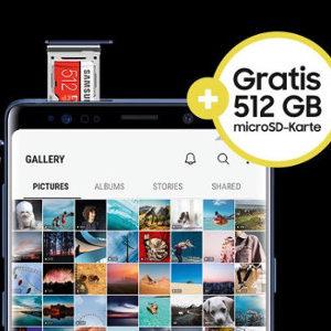 Gratis Evo Plus 512GB microSD bei Kauf eines Samsung Galaxy Note9