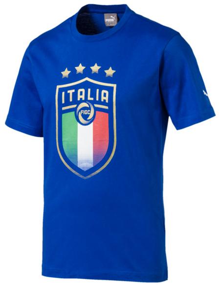 Italia Wappen T Shirt Team Power Blue PUMA Vatertag PUMA Deutschland