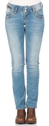 LTB Damen Jeans Jonquil Slim Straight Blau Ansel Undameged Wash
