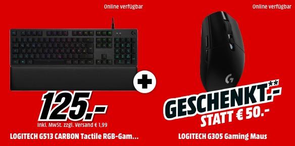 Logitech G513 mechanische Gaming Tastatur Logitech G305 Gaming Maus MM