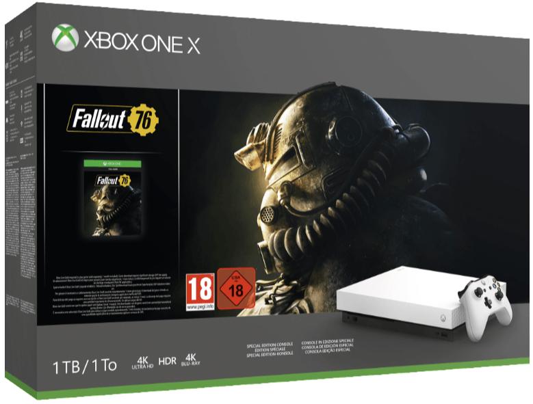 MICROSOFT Xbox One X 1TB Konsole  Robot White Special Edition Fallout 76 Bundle Xbox One Konsolen MediaMarkt