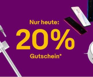 Ebay Singles Day ⚡😲 20% Gutschein auf Xiaomi & mehr, z.B. der Roborock S50