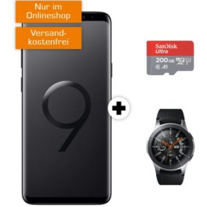 o2 Free M: Allnet-Flat mit 20GB LTE + Galaxy S9 Plus + Gear Watch + 200GB MicroSD