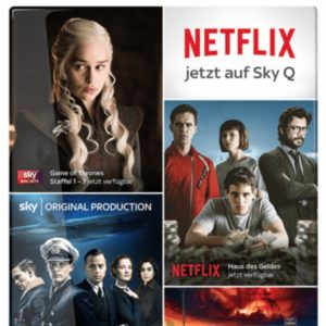 Black Friday: Sky Entertainment (Serien) & Netflix in HD für 19,99€ mtl.