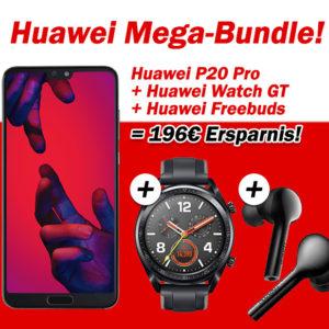 💥 Huawei P20 Pro + Huawai Watch GT + Huawei FreeBuds + Allnet-Flat mit 2GB