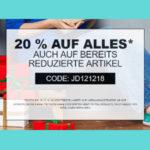 Jeans-Direct: 20% Gutschein auf alles (auch Sale), z.B. 3er Pack Mustang Shirts