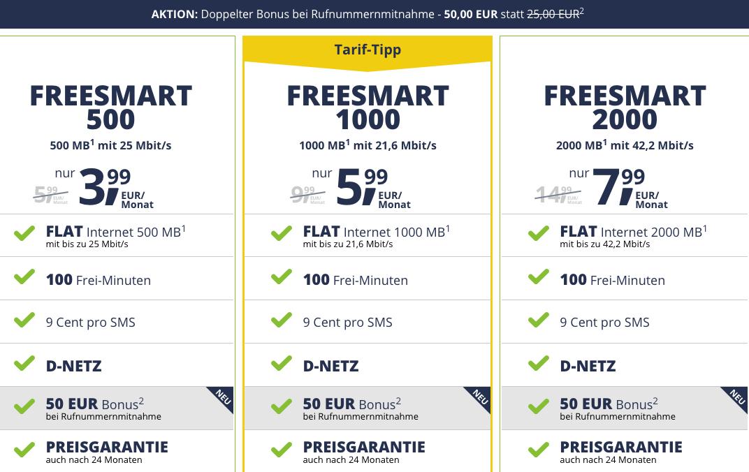 Top Smartphone Flats im D Netz mit und ohne Laufzeit freenetmobile