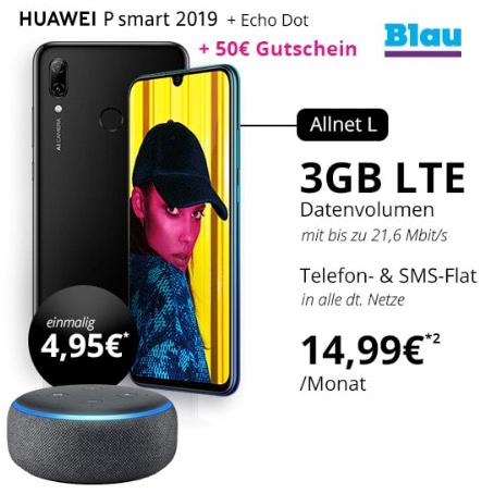huawei p smart amazon echo dot blau allnet l handyflash titelbild