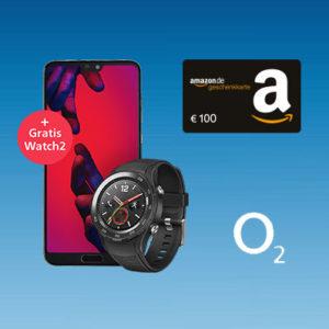 😲 o2 Free M mit 10GB LTE + Huawei P20 Pro + Watch 2 + 100€ Gutschein