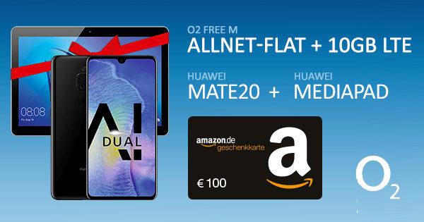 o2 free m gutschein bonus deal huawei mate20 mediapad 1