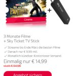 Sky Ticket Cinema+ TV Stick 3 Monate 14,99€