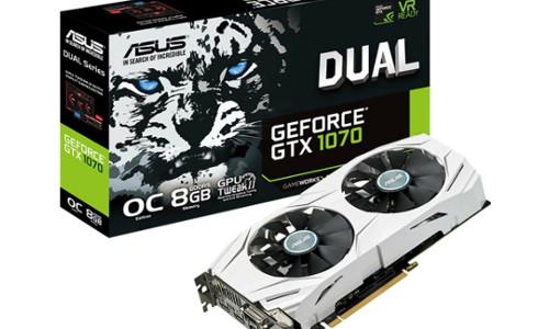 ASUS GeForce GTX 1070 DUAL OC GDDR5X 8GB Grafikkarte PCI Express
