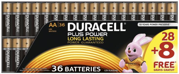 DURACELL Plus Power AA Mignon Batterie Alkaline 36 Stueck  MediaMarkt