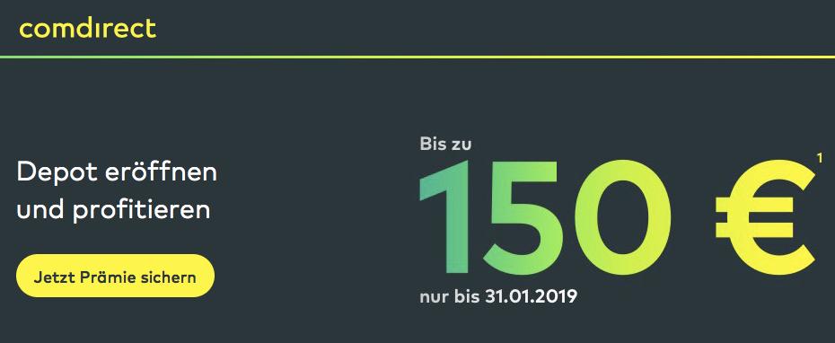 Kostenloses Comdirect Depot Mit Bis Zu 150 Prämie Schufa Frei