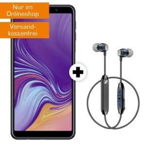 o2 Allnet-Flat mit 3GB LTE + Prämie, z.B. Galaxy A7 + Sennheiser CX6