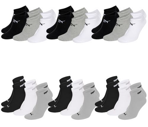 🧦 18 Paar Puma Socken (9x Quarter- & 9x Sneaker-Style)