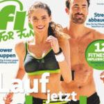 """12x Ausgaben """"Fit for Fun"""" für 43,20€ + 40€ Verrechnungscheck"""