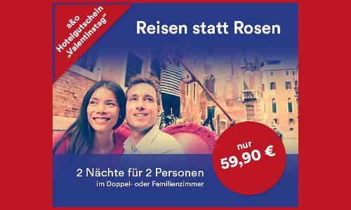 A und O Hotel Gutschein fuer 2 Naechte und 2 Erwachsene plus 2 Kinder