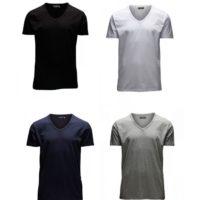 Jack Jones Herren T Shirt O Neck V Neck 4er Pack