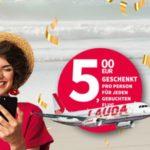 Nur heute: Flug buchen & 5 Euro-Gutschein geschenkt