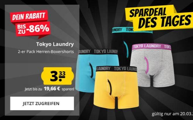 Doppelpack Tokyo Laundry Boxershorts 34 zur Auswahl