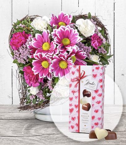 Fuer Dich und Herz Pralinen Trio jetzt bestellen bei Valentins Valentins Blumenversand Blumen und Geschenke versenden 2019 04 07 11 33 35
