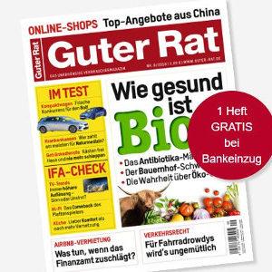 """Tipp: 8 Ausgaben """"Guter Rat"""" für 21€ + 15€ Verrechnungs-Scheck"""