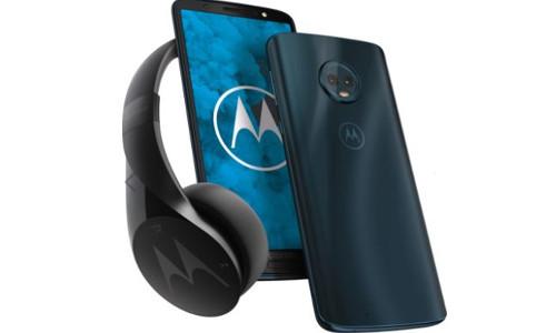 Motorola Moto G6 und Pulse Escape Kopfhoerer