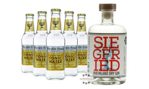 Siegfried Rheinland Dry Gin mit 5x Fever Tree Tonic Water 1