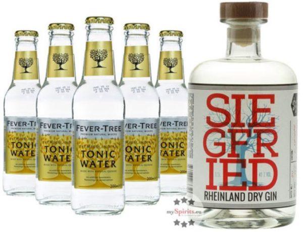 Siegfried Rheinland Dry Gin mit 5x Fever Tree Tonic Water