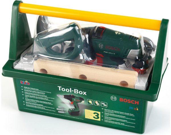 klein Bosch Tool Box mit Akkuschrauber