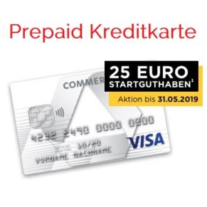[Knaller] 💰 25€ für die Commerzbank Prepaid Kreditkarte (schufa-frei)