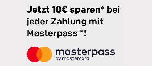 10 Euro Masterpass Rabatt