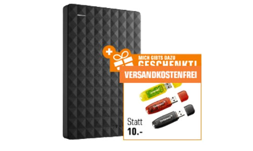 SEAGATE Expansion Portable 2 TB HDD 2.5 Zoll extern INTENSO 16 GB 3er Pack USB Sticks