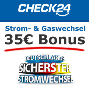 [TOP] 2x 35€ Amazon-Gutschein für Strom- und Gas-Wechsel (via Check24)