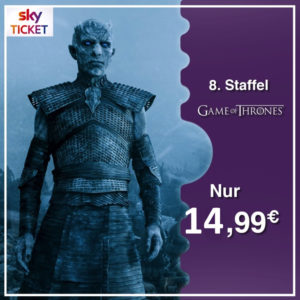 Tipp: ⚔ Game of Thrones - Staffel 8 für 14,99€ streamen (via Sky Ticket)
