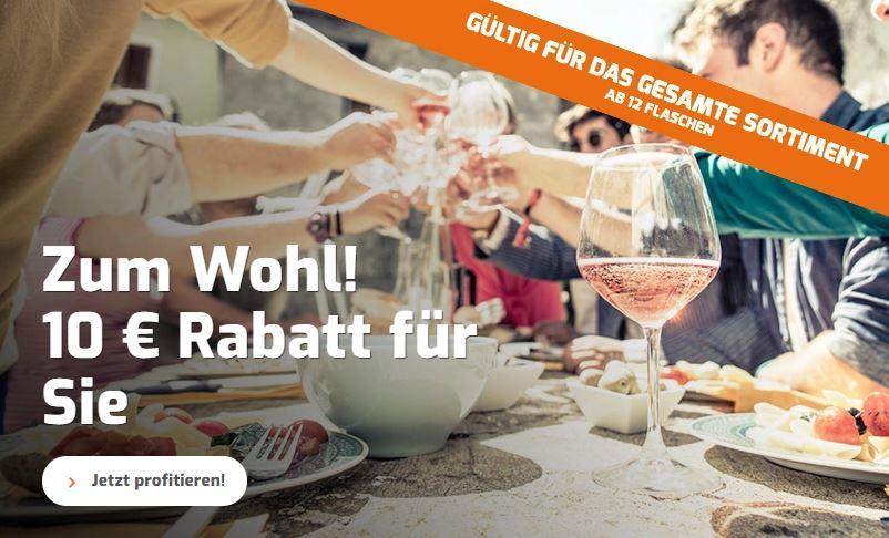 10 Euro Rabatt auf Wein