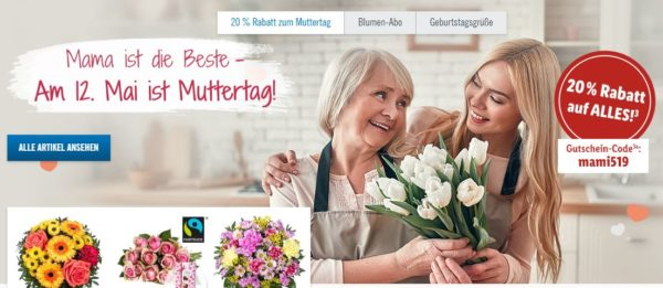 Lidl Blumen zum Muttertag 20 Gutschein auf Straeusse 1
