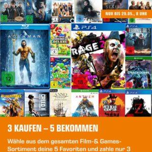 Games & Filme 🎮 🎬 3 kaufen + 2 geschenkt bei Saturn