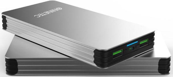 NINETEC 15000mAh PowerBank mobiler Akku fuer iOS Android NT615 Silber 1