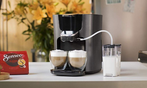 PHILIPS Senseo Latte Duo Plus HD6574 Kaffeepadmaschine Milchbehaelter
