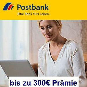 [Knaller] Bis zu 300€ Prämie 🤑 für das Postbank Komfort Girokonto