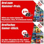 🎮 Media Markt: 3x Games für 49€ // 79€ (PS4, Switch, Xbox, PC)