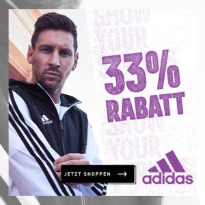 Adidas: 🔥 33% Gutschein aufs Outlet & ausgewählte Artikel