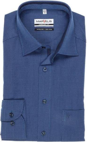 2019 06 05 11 42 07 Hochwertiges Marvelis Comfort Fit Hemd in der Farbe marine bleu Strukturiert. D