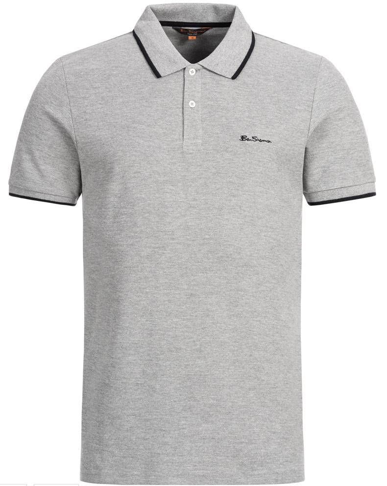 BEN SHERMAN Herren Polo Shirt 0059993 009 Grey Marl SportSpar 2019 06 26 17 30 20