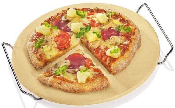 Berndes Pizzastein Brotbackstein mit Chromgestell 33 cm